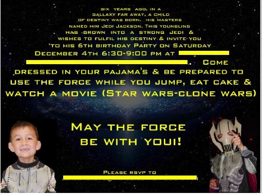 Star Wars meets Harry Potter Birthday – Star Wars Birthday Invitation Wording